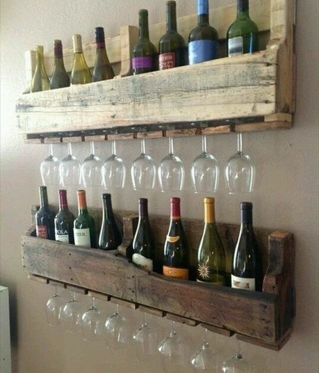 repurposed shipping pallet.
