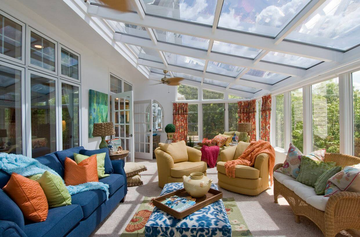 7 great sunroom ideas modernize for Home plans with sunrooms