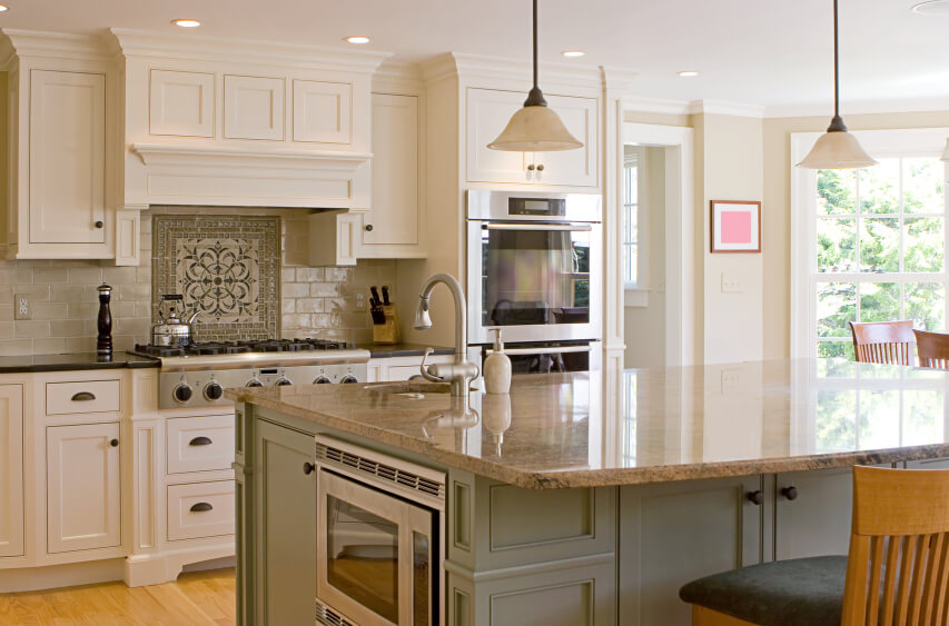 white kitchen with island kitchen remodeling - Island Kitchen Ideas