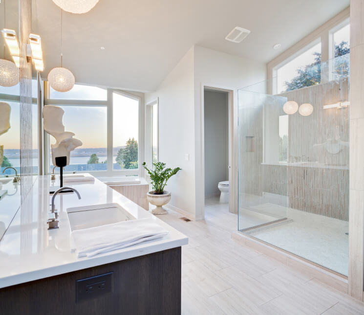 large white master bathroom