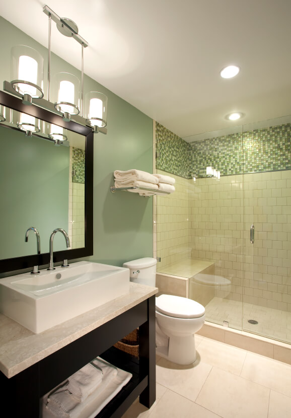 Mini Pendant Lights For Bathroom: simple ways to modernize an outdated bathroom atlas green homes, Home design,Lighting
