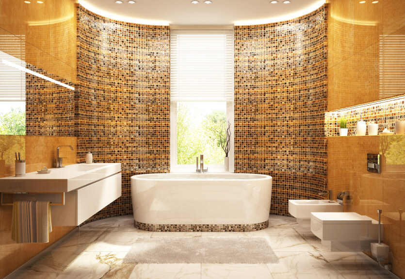 Modern-gold-bathroom