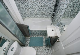 Small, moderm bathroom