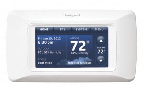 The Honeywell Prestige smart thermostat.