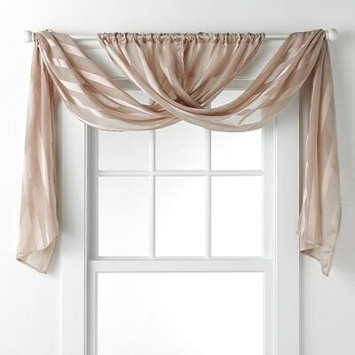 Curtain Rods Without Drilling Scarf Valance Curtains