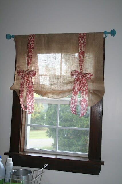embellished burlap curtains