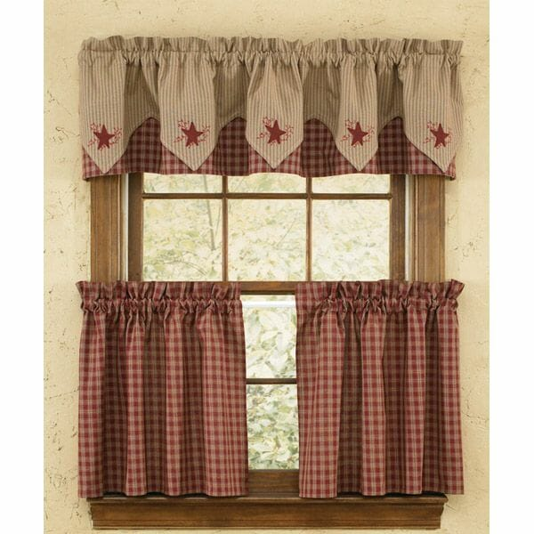 Red Checkered Curtains