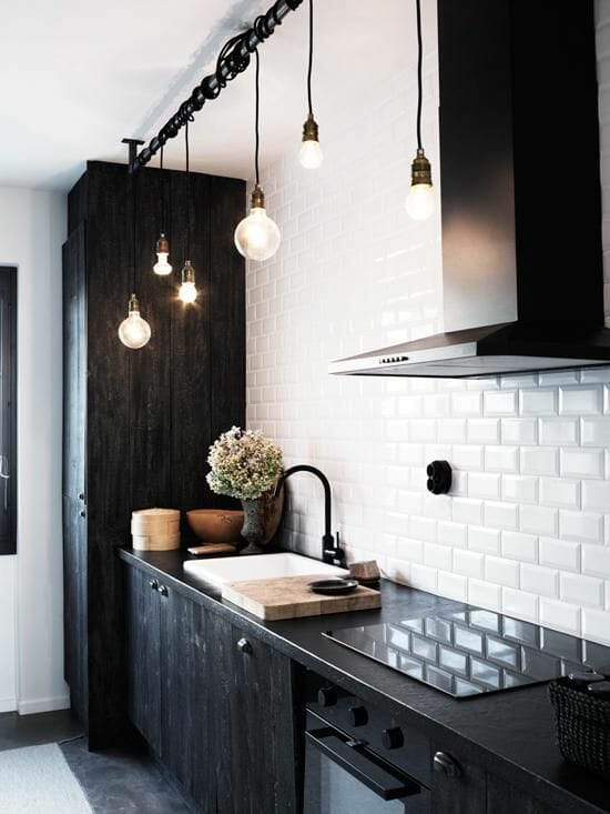 black and white kitchen remodeling
