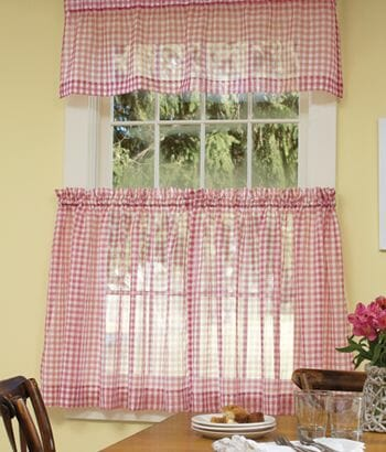 red checkered valance