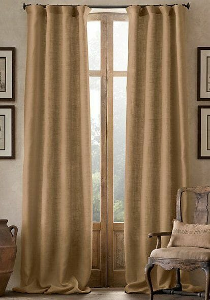 needs to be dressed up or down. Burlap as a stand alone curtain ...