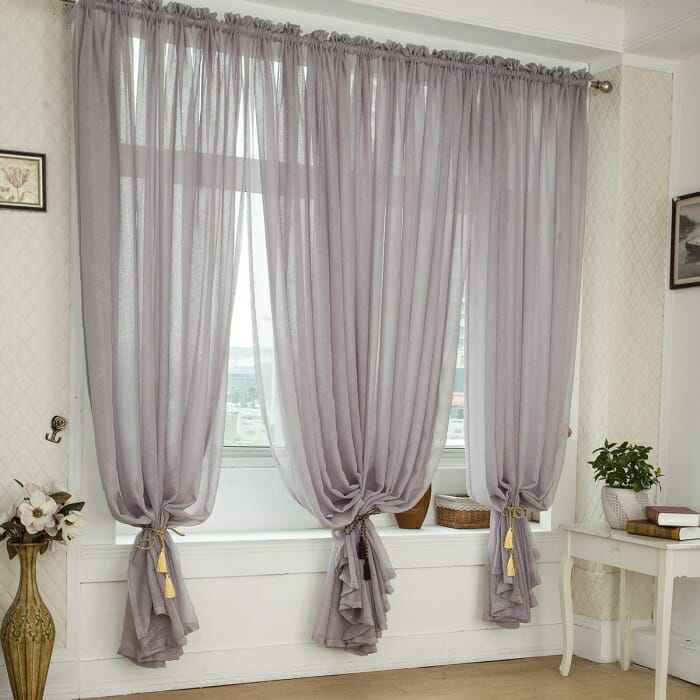 bunched curtains