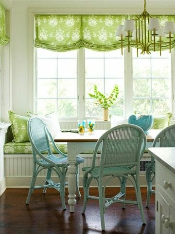 bright green valance