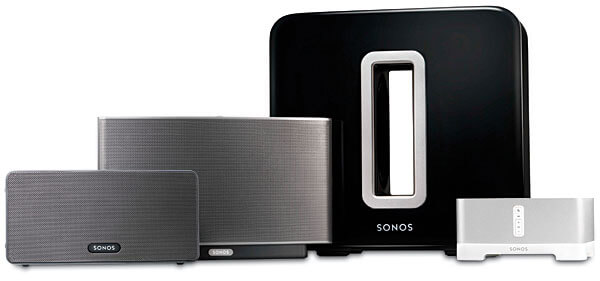 how to connect two sonos play one to bridge