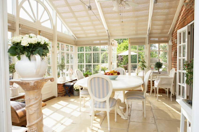 interior of modern conservatory - Sunroom Design Ideas