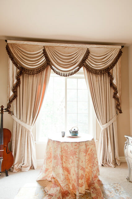 theatrical window curtains