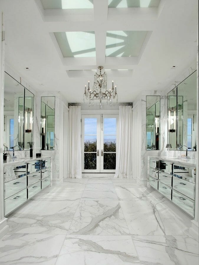 marble tile can be used pretty much anywhere throughout the home
