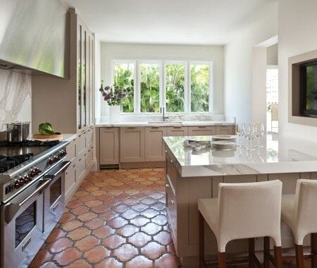 Spanish Hexigon Tiles Kitchen