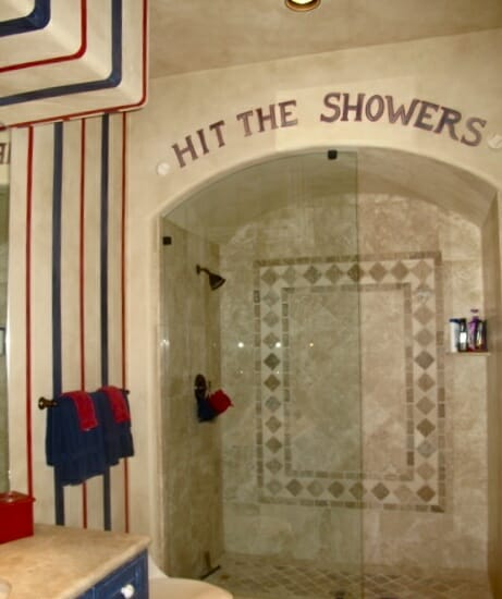 Sports Themed Bathroom Decor