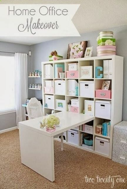 attic sewing room ideas - 7 Rooms That Use IKEA s Expedit Kallax Shelving Modernize