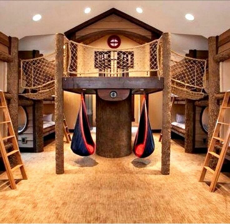 boy room fort