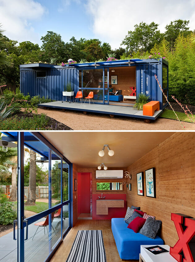 container house in San Antonio, Texas