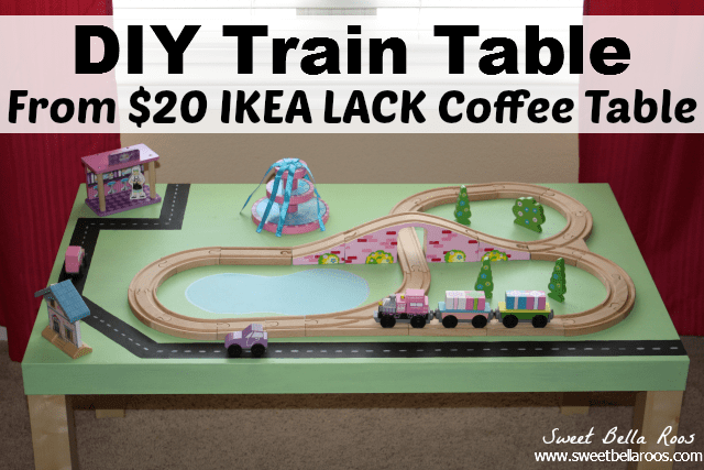 diy train table ikea hack