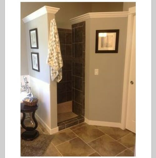 Add A Walk In Shower But Skip The Door Altogether Giving Your Master Bath A More Open Spa Look