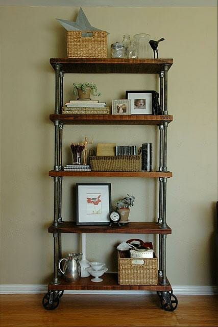 industrial pipe book shelves