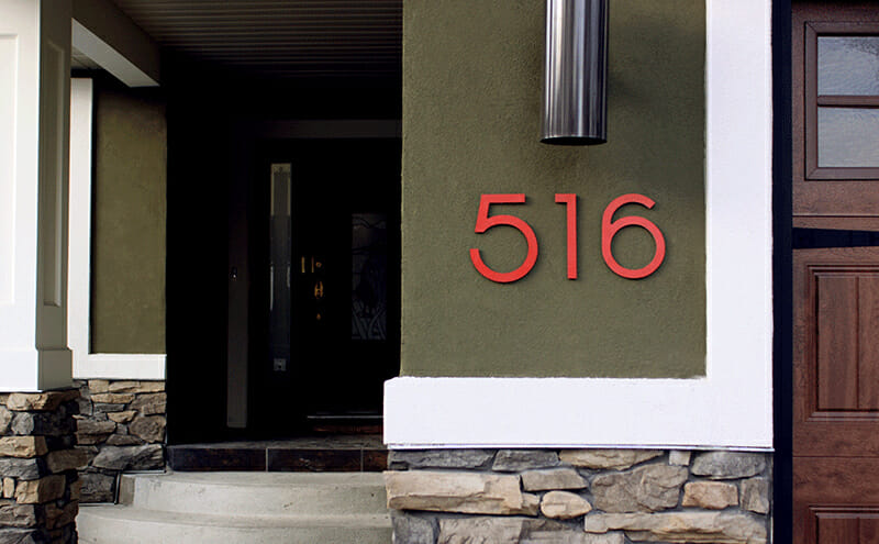 Where To Buy Modern House Numbers Modernize