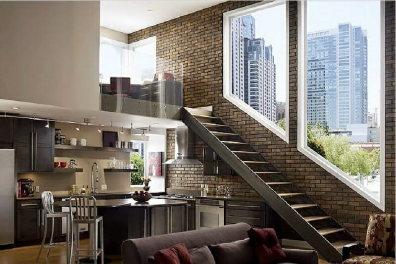interesting brick loft interior design | 6 Exposed Brick Interiors for Stylish Contemporary Homes ...