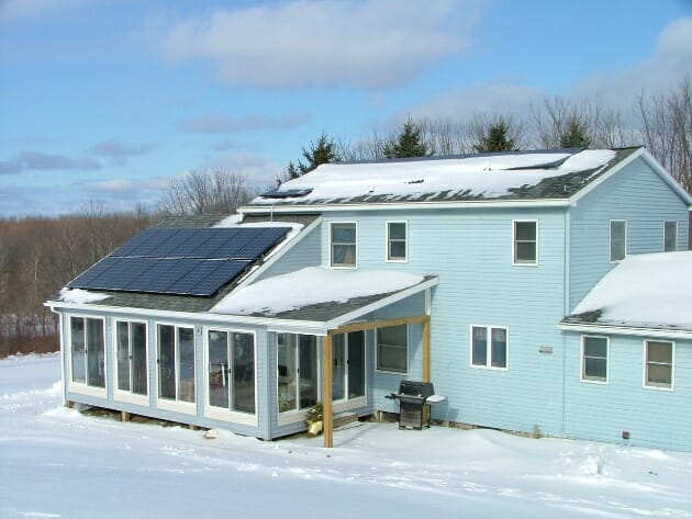 Solar power winter home