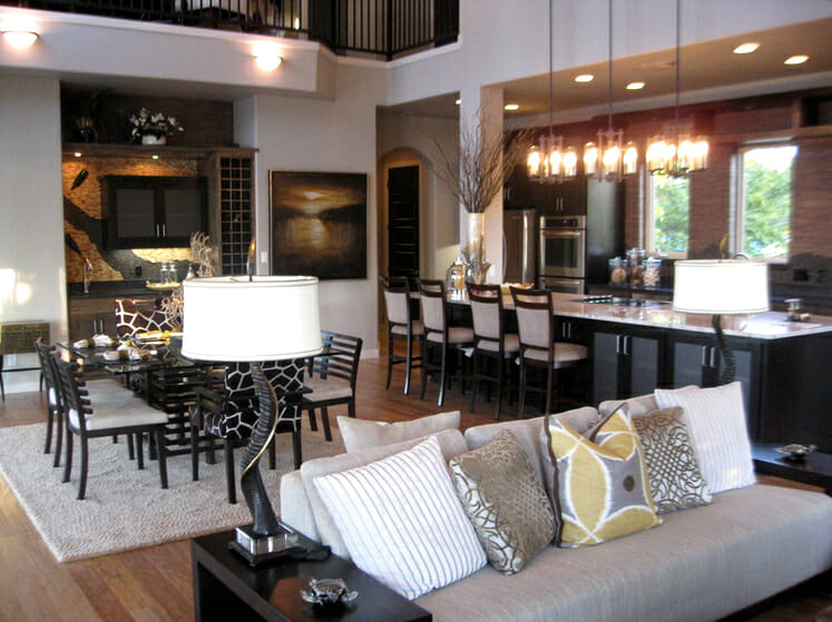 Kitchen Living Room >> Open Concept Kitchen and Living Room Décor - Modernize