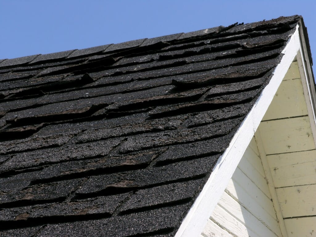 Image result for curling or missing roof shingles