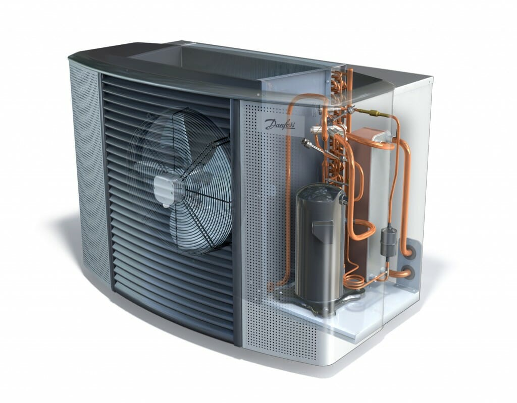 The different components of a heat pump and how does a heat pump work.