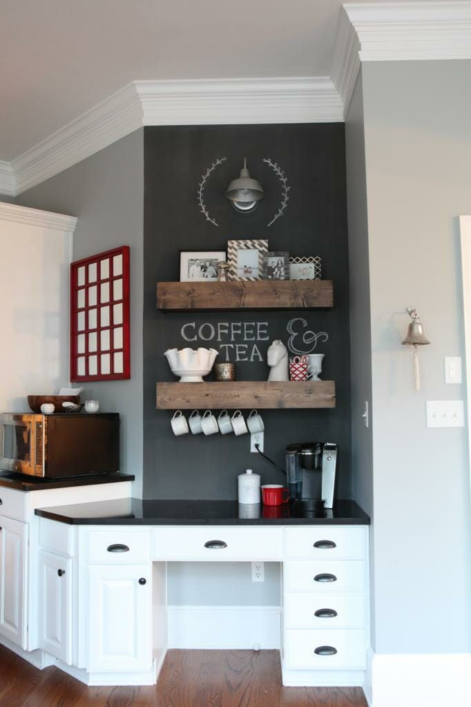 Add a coffee or beverage station to your kitchen modernize - Bar built into wall ...