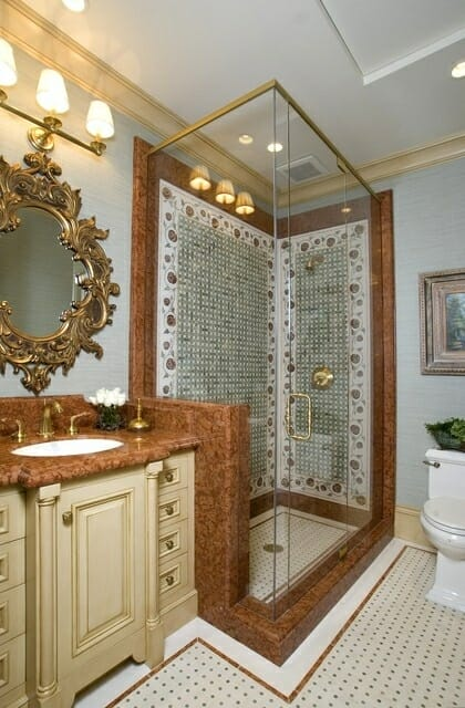 Decorative Tile Shower