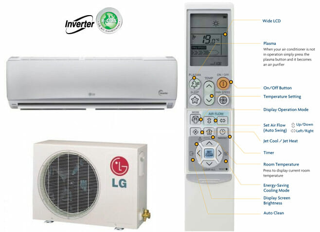 3 different types of lg hvac systems.
