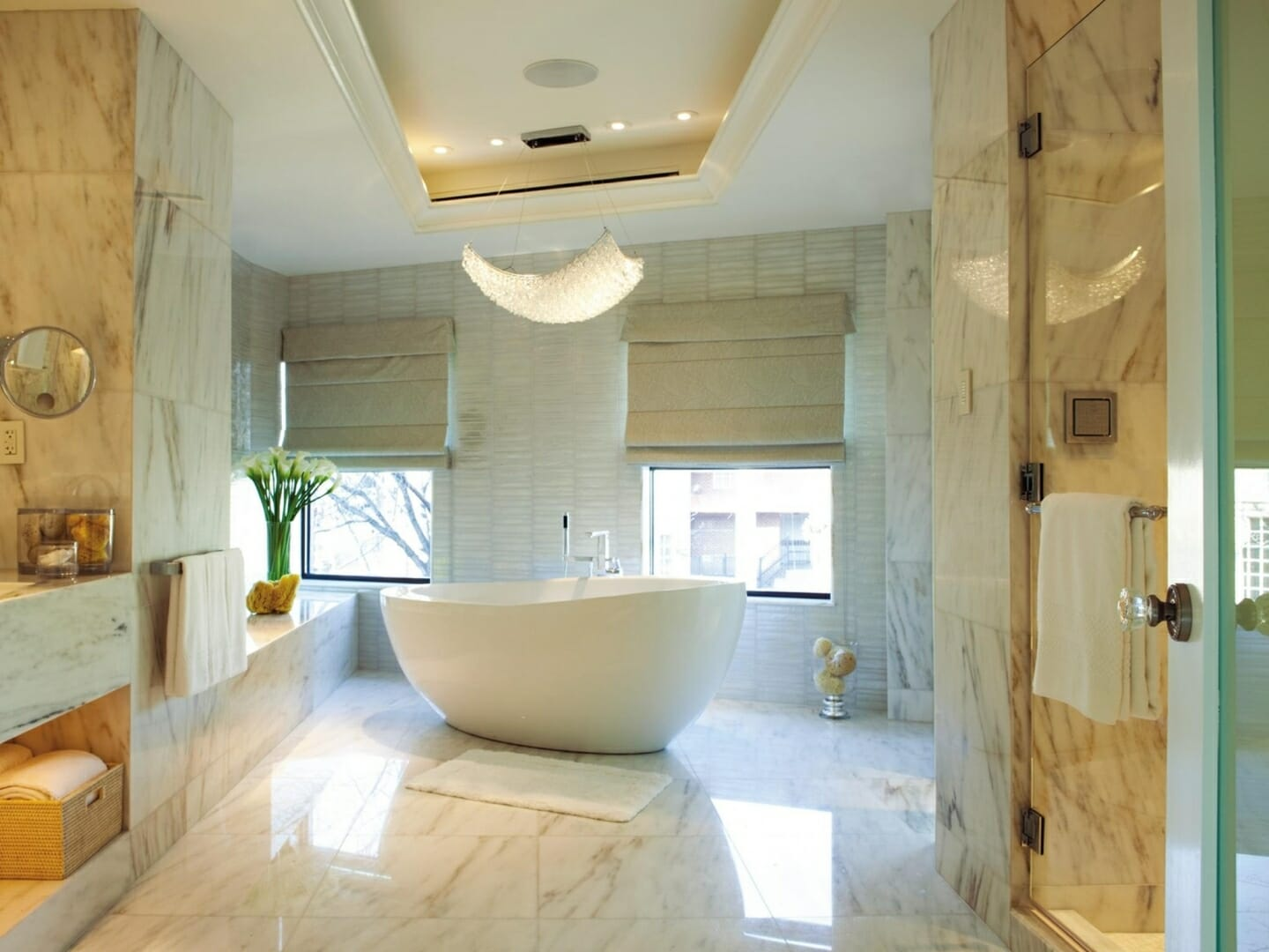 marble tiles bathroom - Tile Bathroom Designs