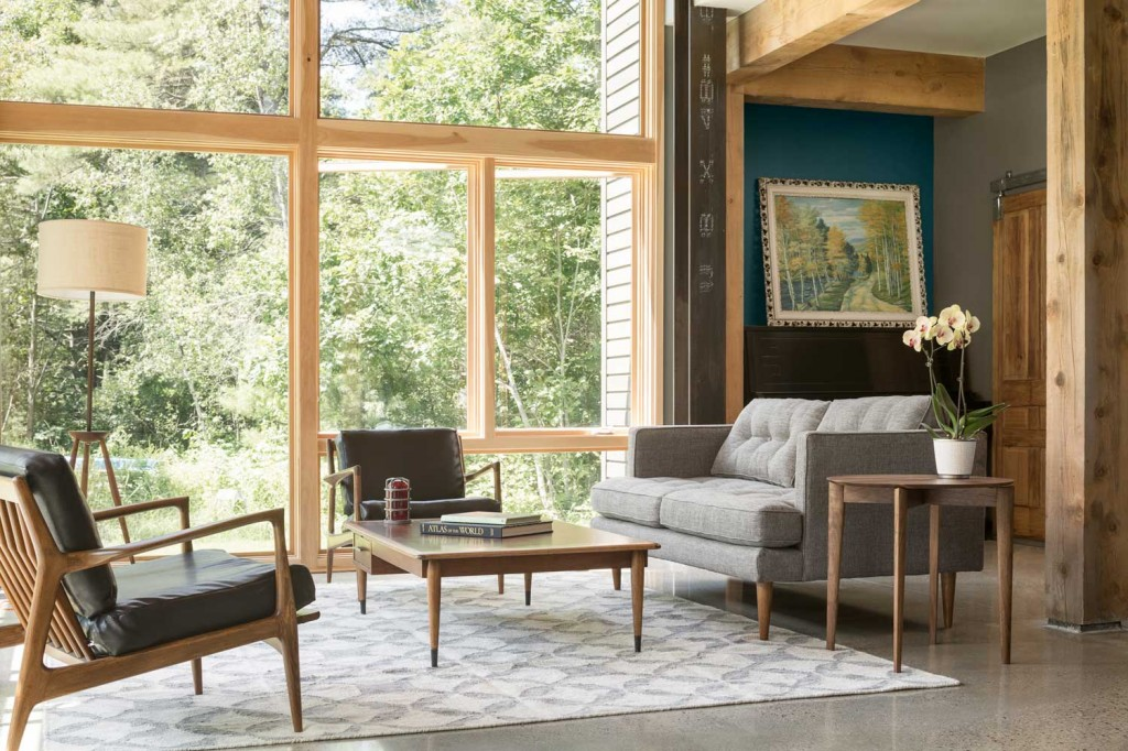 Marvin windows in a modern living room