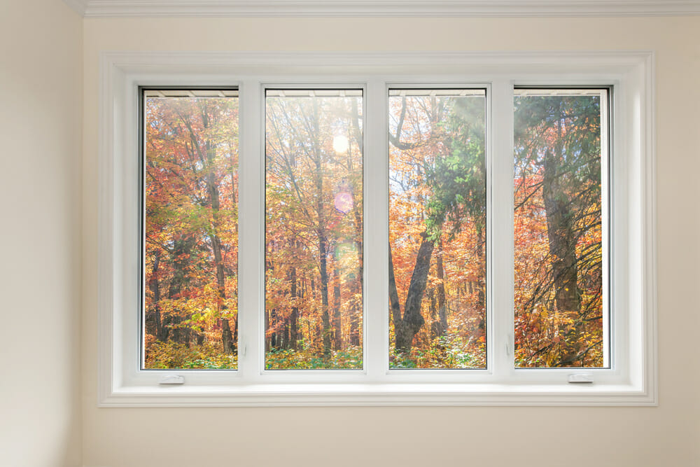 pella windows offering a view to the forest