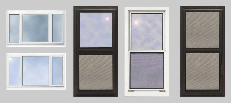 a variety of storm windows fiberglass window frames