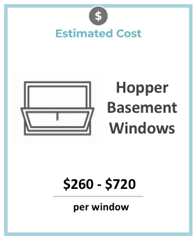 hopper windows basement window cost