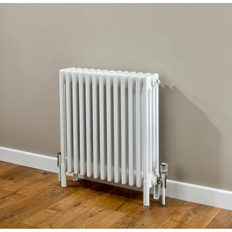 A column radiator inside a home.