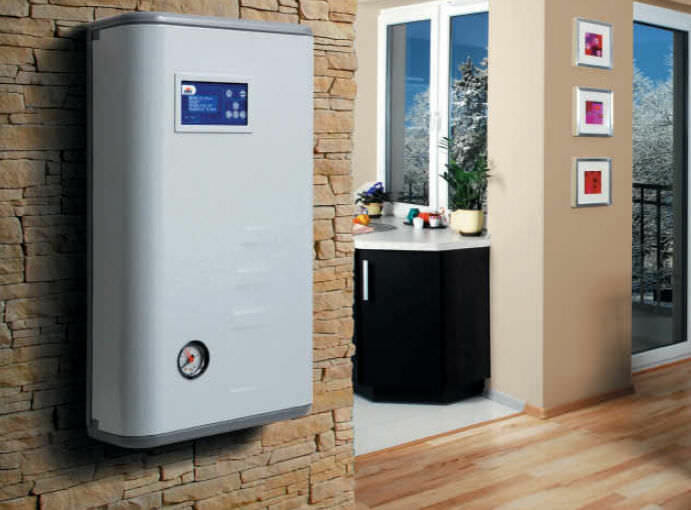 An electric boiler inside a modern home.
