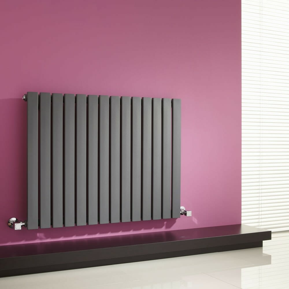 A panel radiator inside a home.