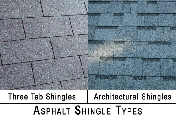 Architectural vs 3 tab shingles