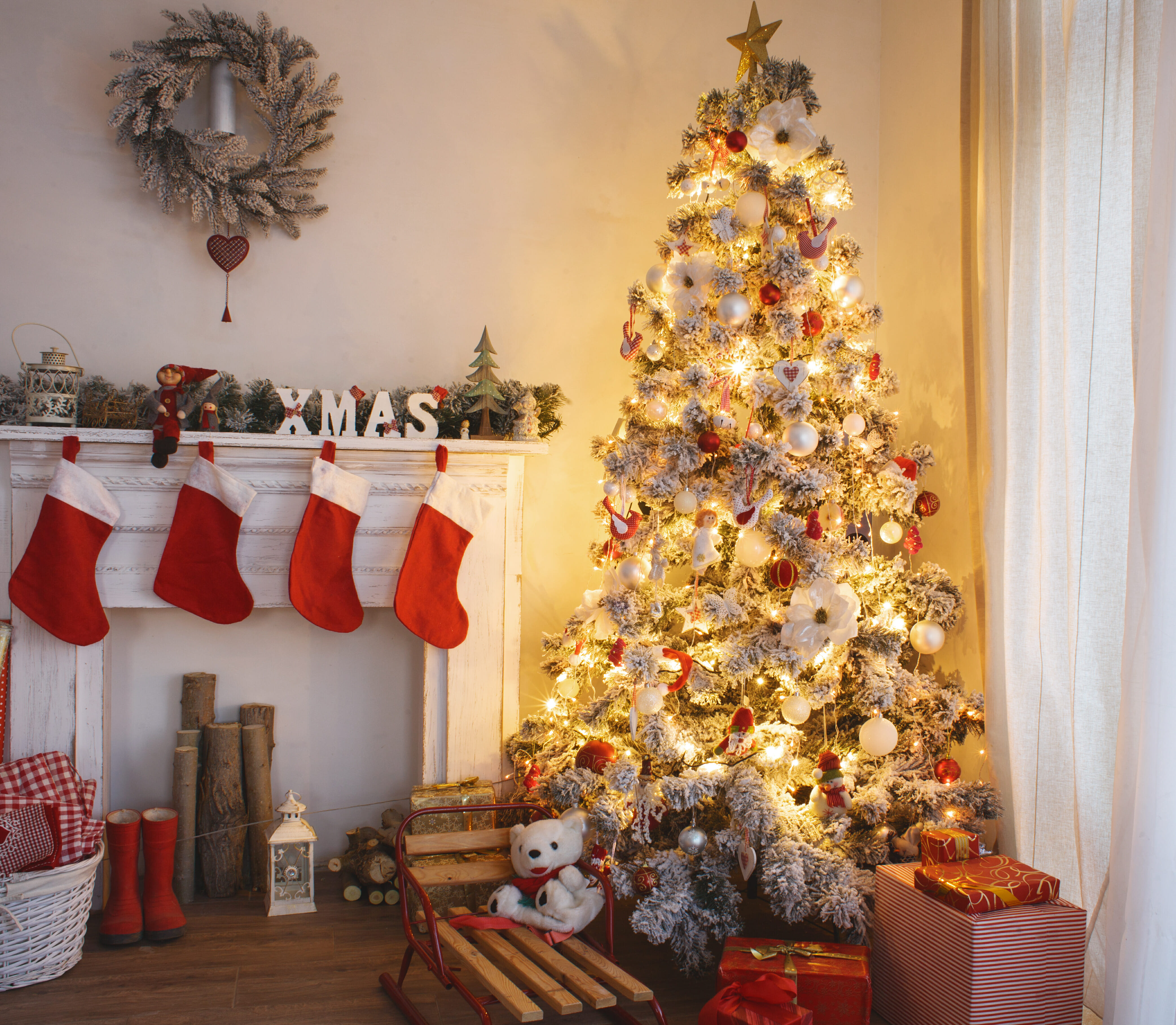 Living Room Christmas Decor Home Decoration Simple And Cheap Living Room Christmas Living Room