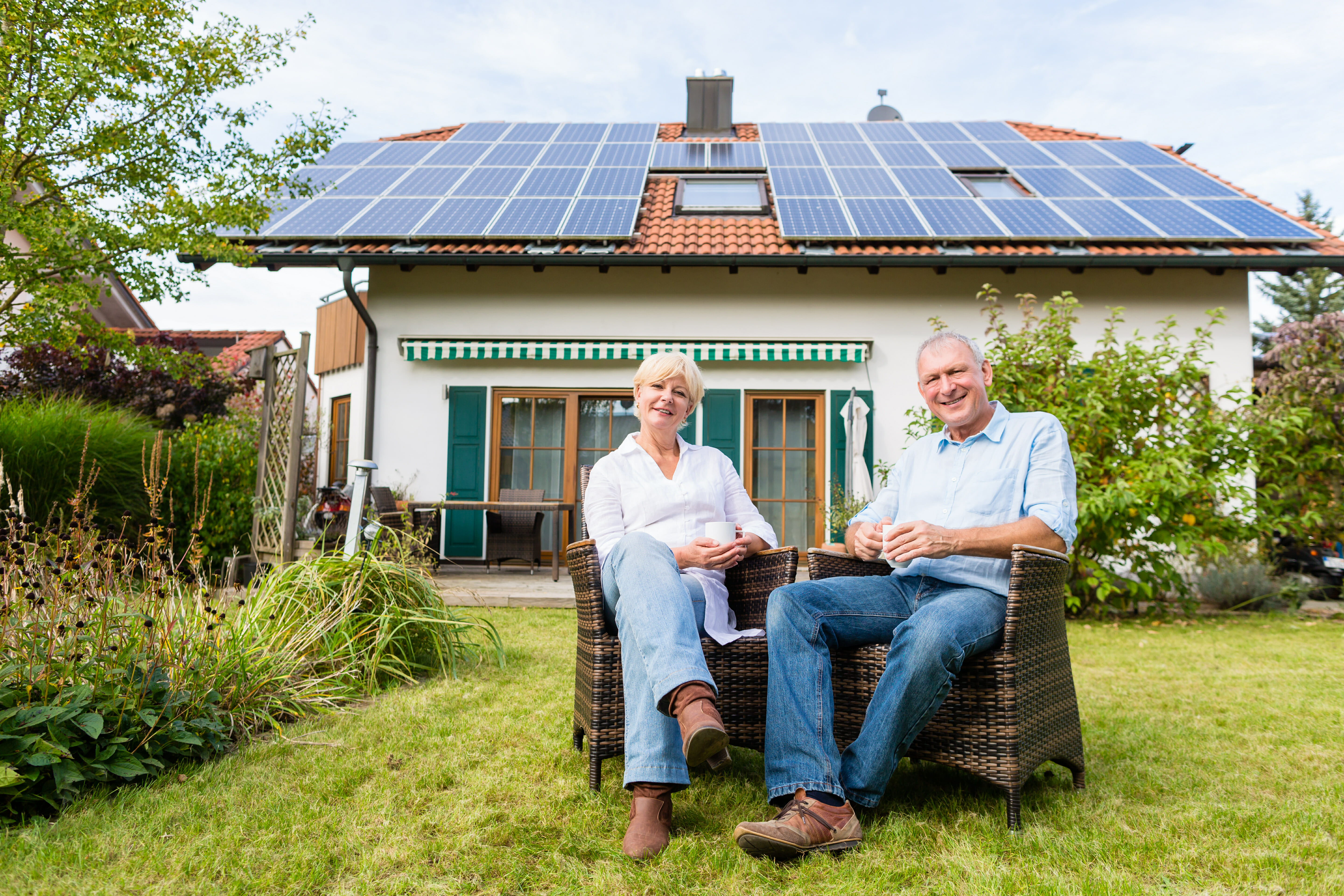 Couple with Solar Panels