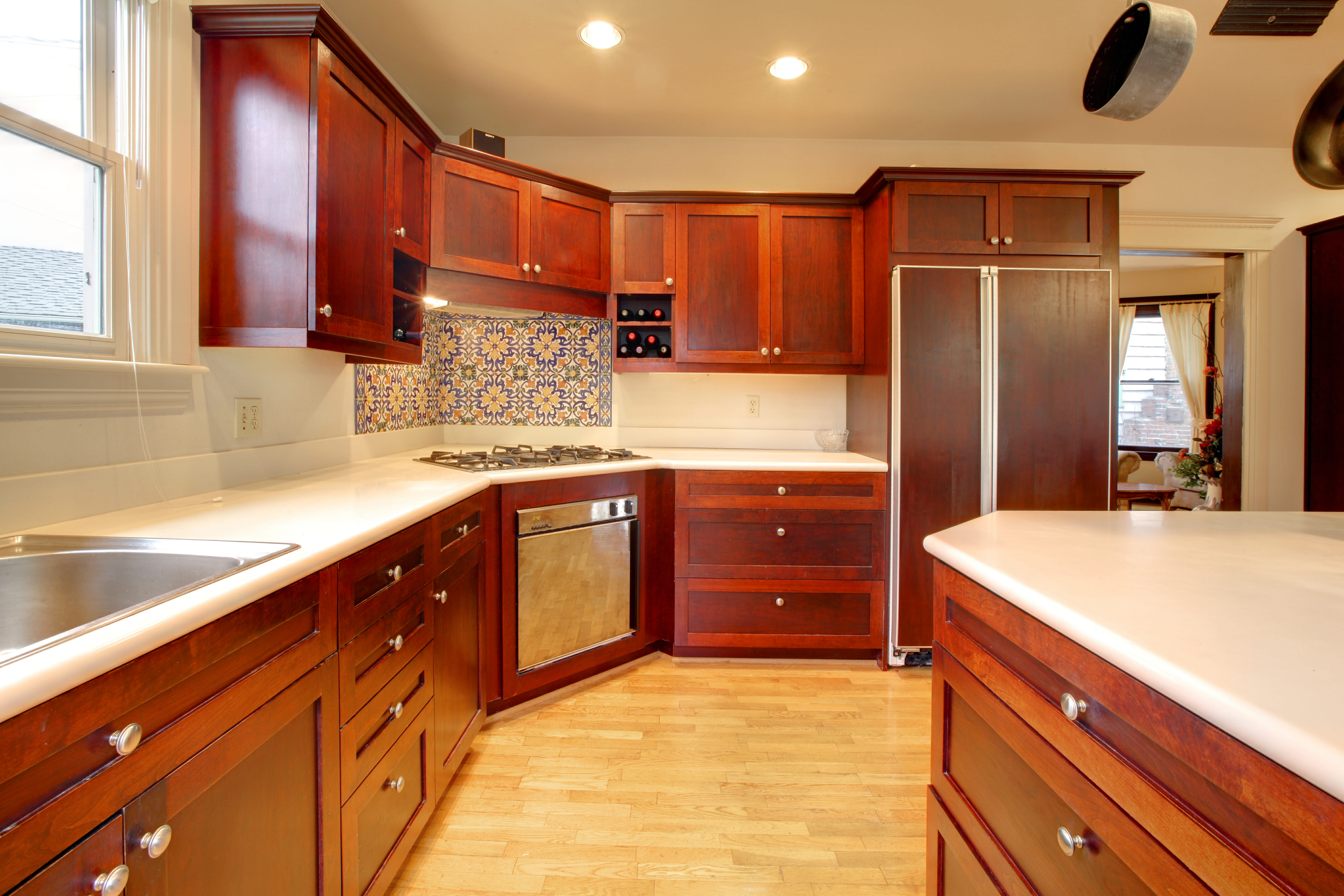 Mahogany Kitchen Cabinets