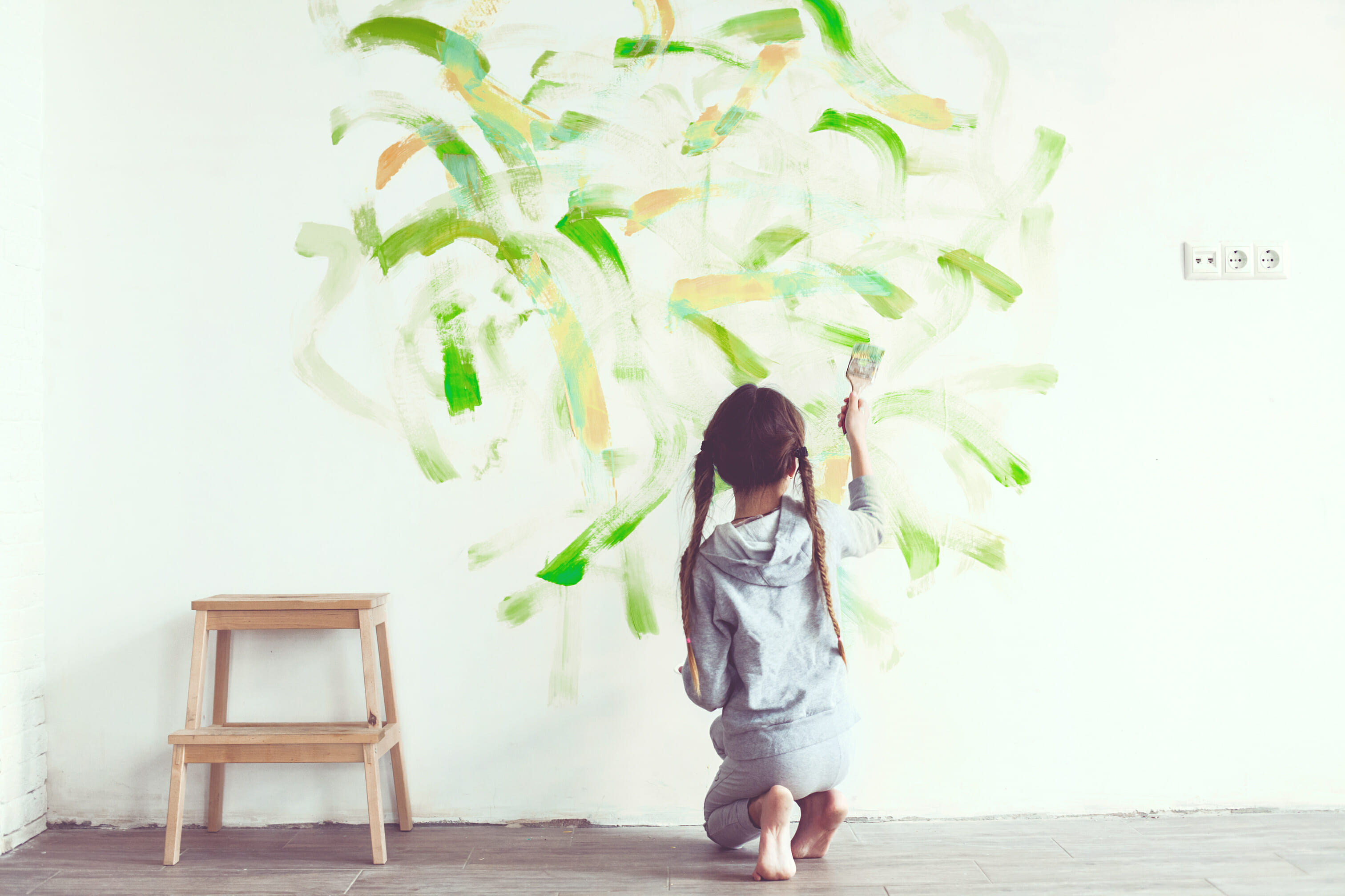5 scrubbable paint options modernize Kids room wall painting design